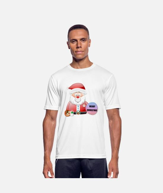 Santa T-Shirts - Santa 16 Merry Christmas - Men's Sport T-Shirt white