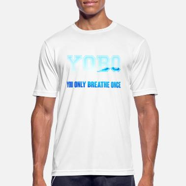 Butterfly Swim Swimming / Swimmer: YOBO - You Only Breathe Once - Men's Breathable T-Shirt