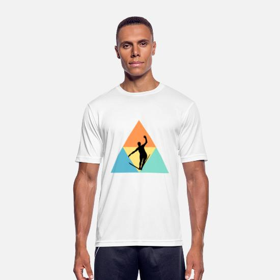 Gift Idea T-Shirts - Slackline - Men's Sport T-Shirt white