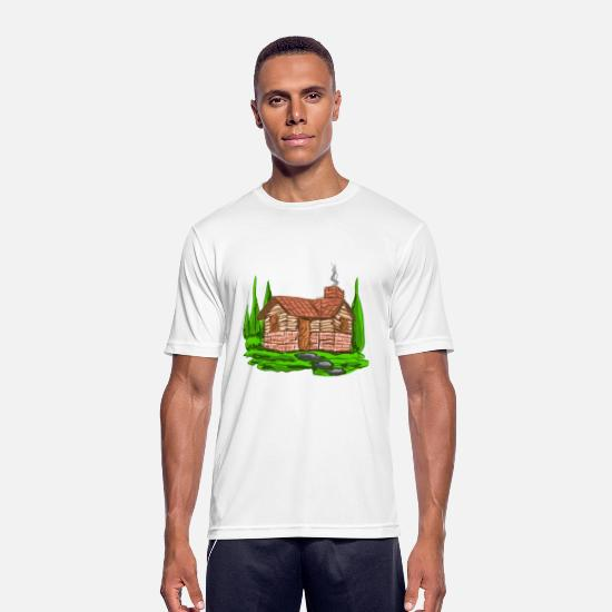 Home Sweet Home T-shirts - Home sweet home - Mannen sport T-shirt wit