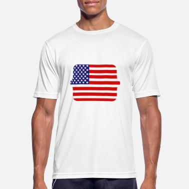 State Flag United States flag - Men's Breathable T-Shirt