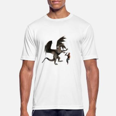 Middle Ages Drache - Männer Sport T-Shirt