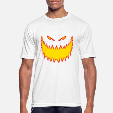 Demonisk Wicked Creepy Pumpkin Face Jack o Lantern - Sport T-shirt herr