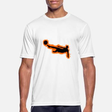Football Outline Silhouette football orange and black outline - Men's Breathable T-Shirt