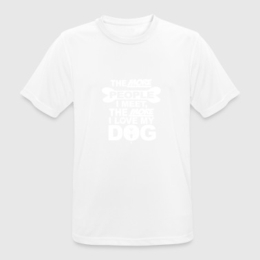 the more people i meet - mannen T-shirt ademend