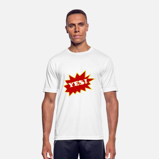 Red T-Shirts - yes yes word bäääm - Men's Sport T-Shirt white