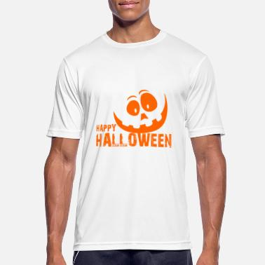 Mitternacht Happy Halloween Pumpkin Face - Männer Sport T-Shirt