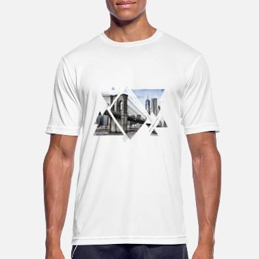 Brücke Brooklyn Bridge New York City Amerika USA - Männer Sport T-Shirt