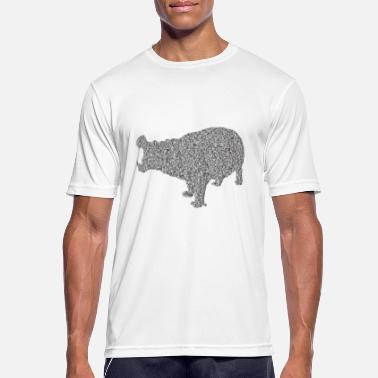 Hippopotamus Hippopotamus - Men's Breathable T-Shirt