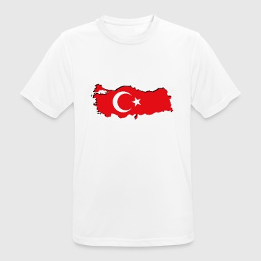 Geographic Turkey flag in geographic form - Men's Breathable T-Shirt