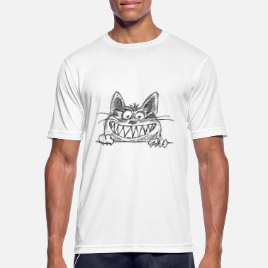 Brommen Angry Cat - mannen T-shirt ademend