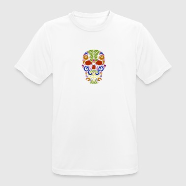 Cultura Calavera mexicana colorida - Men's Breathable T-Shirt