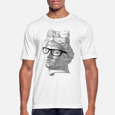 a76c80419c6df Nerd Zeichnung Apoll Brille Nerd Geek Zeichnung Collage - Männer Sport  T-Shirt