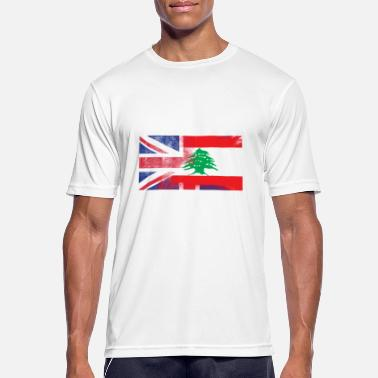 Lebanese Flag British Lebanese Half Lebanon Half UK Flag - Men's Sport T-Shirt