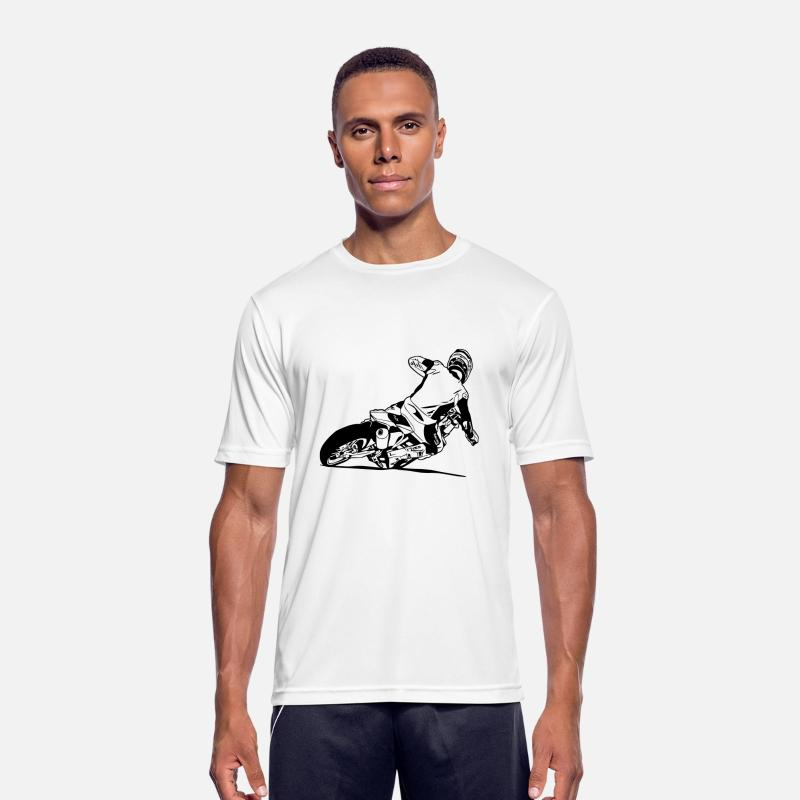 Motocross T-Shirts - Supermoto - Supermotard - Men's Sport T-Shirt white