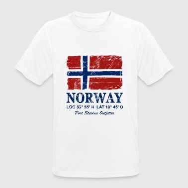 Norway Flag - Vintage Look  - Pustende T-skjorte for menn