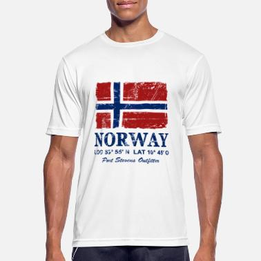 06f42eee Norge Norway Flag - Vintage Look - Sport T-skjorte for menn