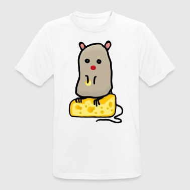 Mr. Mouse / mouse with cheese - Men's Breathable T-Shirt