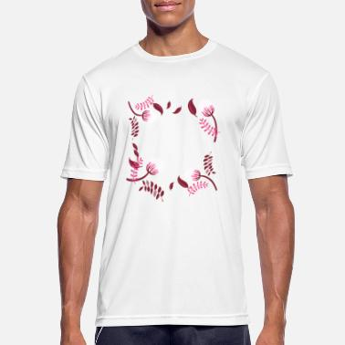 Circular Flowers in a circular pattern - Men's Sport T-Shirt