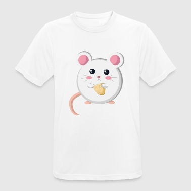 Mouse Cheese Mouse with cheese - Men's Breathable T-Shirt