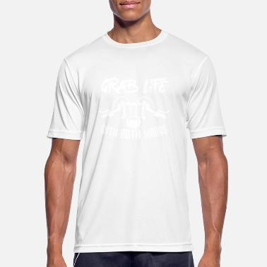 Hands Grab Grab life with both hands - Men's Breathable T-Shirt