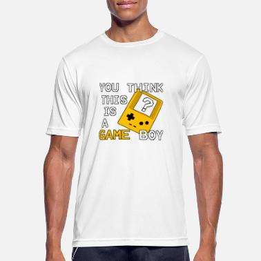You think this is a Game Boy ? - Oldschool Gamer - Männer Sport T-Shirt