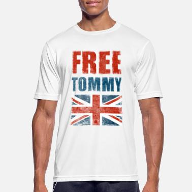 Tommy Free Tommy Robinson Free Speech UK - Men's Breathable T-Shirt
