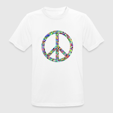 Peace Love hippie pacifist - Andningsaktiv T-shirt herr