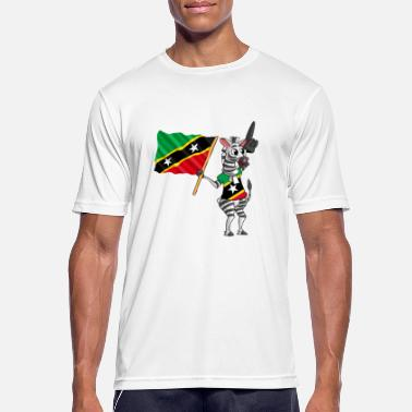 Saint Kitts And Nevis zebra - Men's Breathable T-Shirt