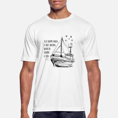 Metal Slogans Ship with slogan in Low German - Men's Breathable T-Shirt