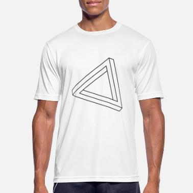 Impossible Illusion Impossible triangle optical illusion - Men's Breathable T-Shirt
