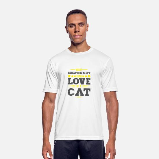 Love T-Shirts - is there a greater gift than the love of one - Men's Sport T-Shirt white
