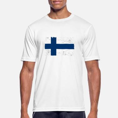 Used Look Finland Flag Used look - Sport T-skjorte for menn