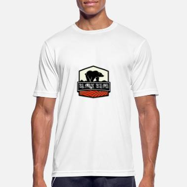 Arm Coat of arms Black bear nature wilderness hunting gift - Men's Sport T-Shirt