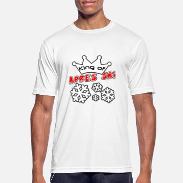 Borrel King of Apres Ski - Mannen sport T-shirt