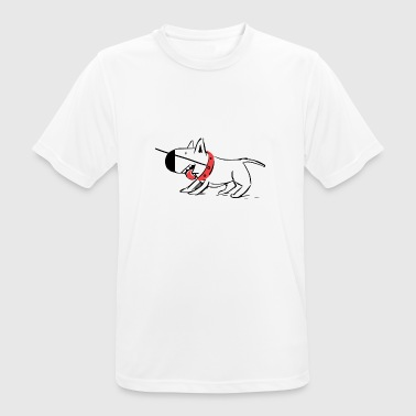 Dog on a leash - Men's Breathable T-Shirt
