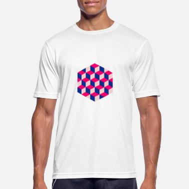 Escher Escher's cubes - Men's Breathable T-Shirt