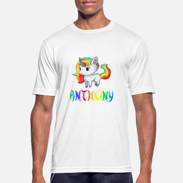 Anthony Anthony Einhorn - Männer T-Shirt atmungsaktiv
