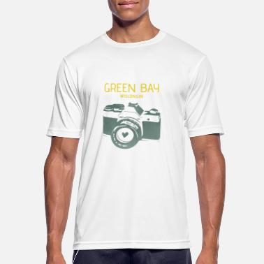 Green Bay Packers Green Bay camera with heart - Men's Breathable T-Shirt
