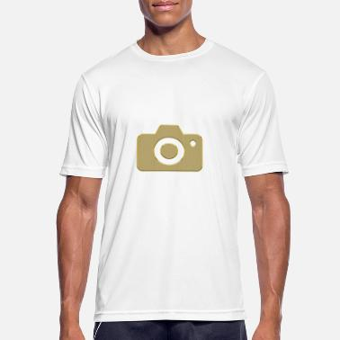 Snazzy Golden camera - Men's Breathable T-Shirt