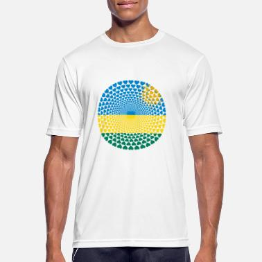 Rwanda Rwanda Rwanda le Rwanda Love HEART Mandala - Men's Breathable T-Shirt