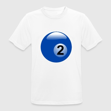 pool billards billiards snooker queue ball sport23 - Männer T-Shirt atmungsaktiv