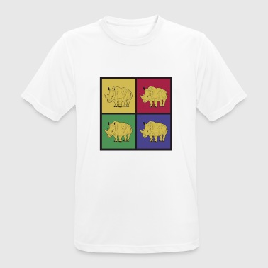 Ungulate Rhino's pop art - Men's Breathable T-Shirt