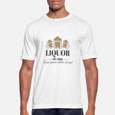 Liquor Vintage Liquor Alcohol Party Logo - Männer Sport T-Shirt