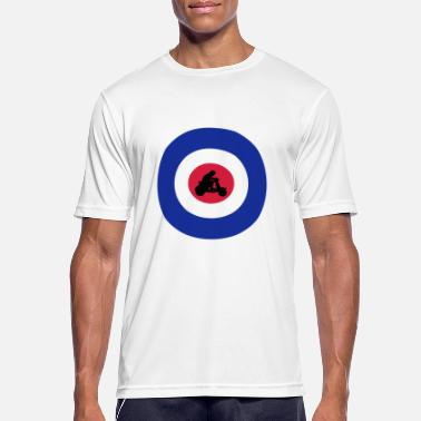 Scooter Driver Target with scooter driver - Men's Sport T-Shirt