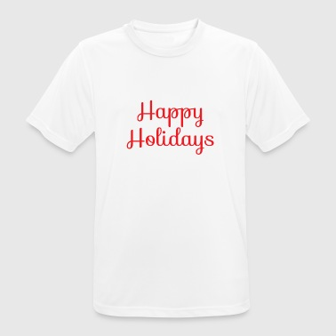 Cool happy holidays Christmas - Men's Breathable T-Shirt