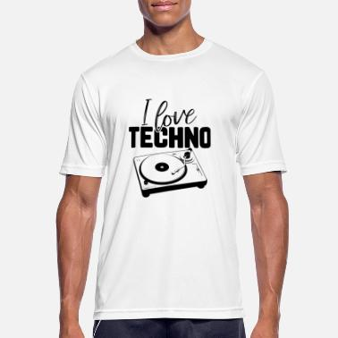 I Love Techno I love Techno - Männer T-Shirt atmungsaktiv