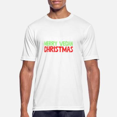 Vegan Long Sleeved Have Yourself A Merry Vegan Christmas Vegetarian - Men's Breathable T-Shirt