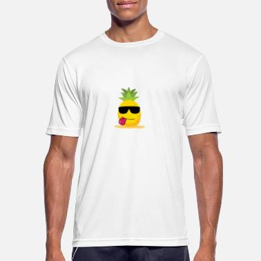 Frutta Smilende gave til Pineapple Lovers - Herre T-shirt svedtransporterende