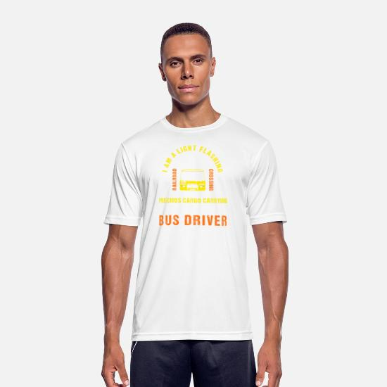 Bus T-Shirts - Bus Car Light School Driving Gift - Men's Sport T-Shirt white